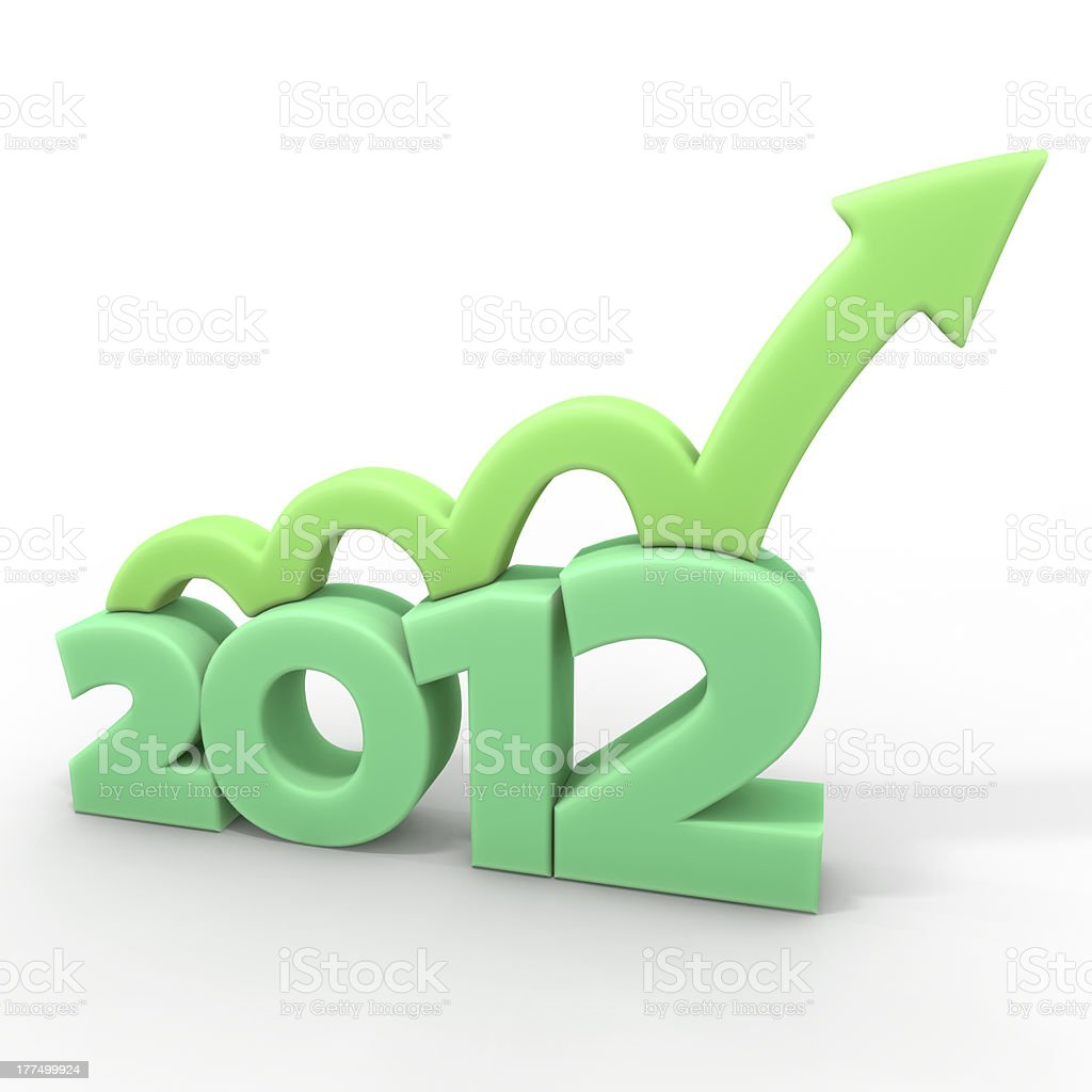 Growth in 2012 stock photo