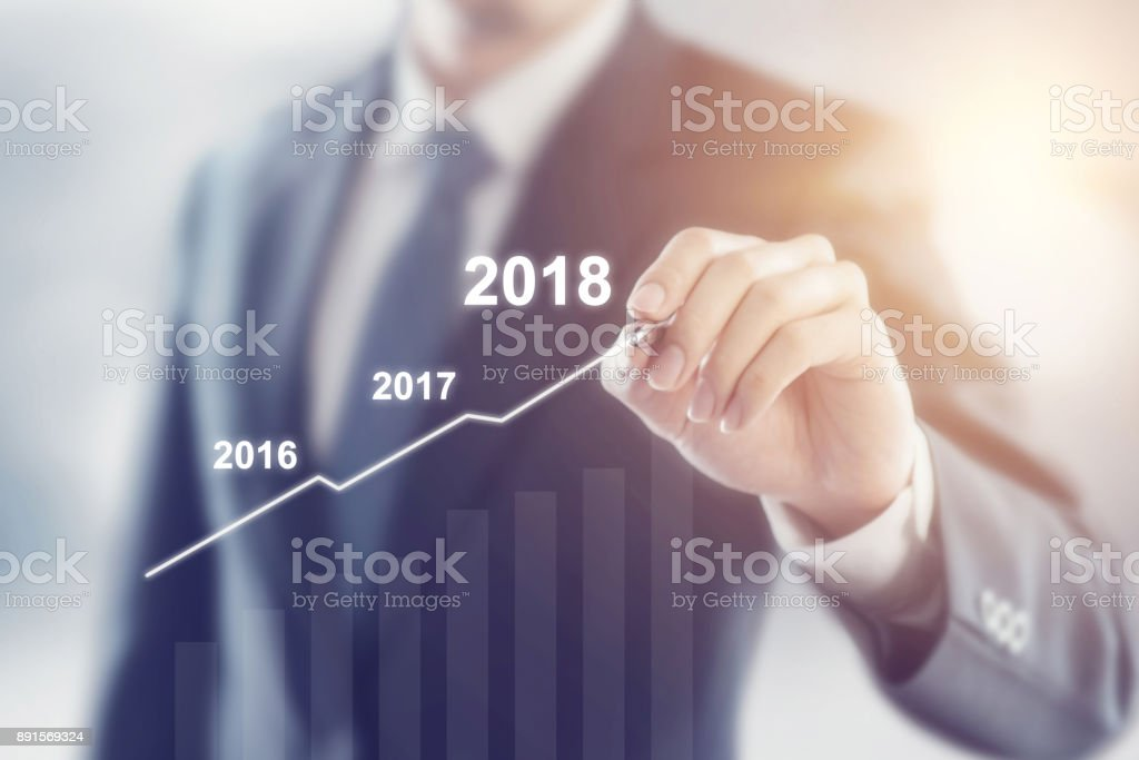 Wachstum im Jahr 2018 Konzept. – Foto