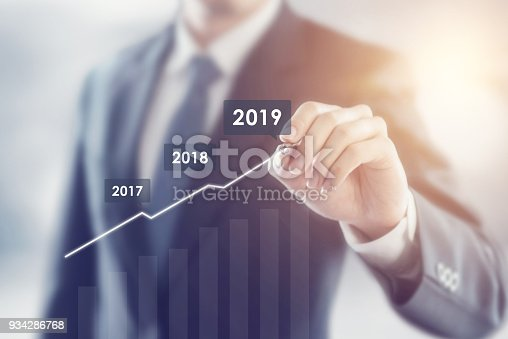 istock Growth in 2019 year concept. 934286768