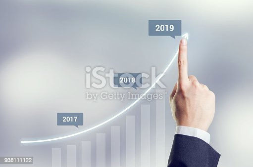 istock Growth in 2019 year concept. 938111122