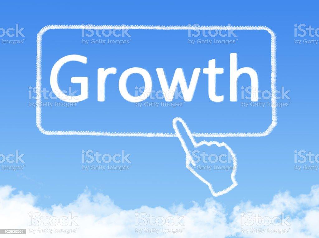 growth message cloud shape stock photo