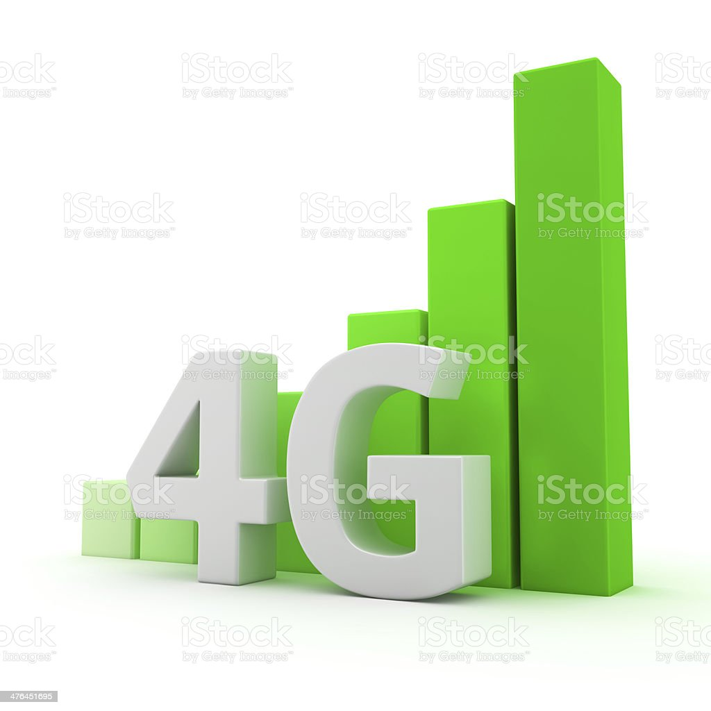 Growth of 4G coverage royalty-free stock photo