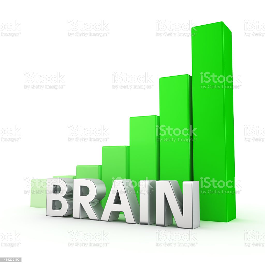 Growth of Brain stock photo