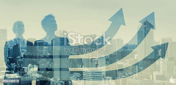 istock Growth of business concept. 889309918