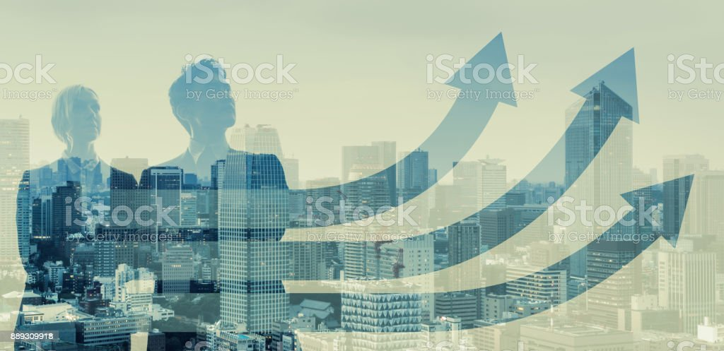 Growth of business concept. stock photo
