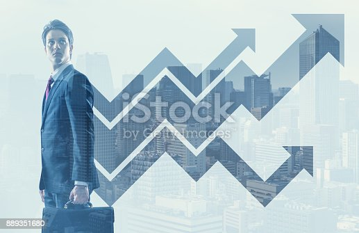 istock Growth of business concept. 889351680