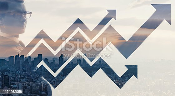 istock Growth of business concept. Promotion. Improvement. 1154262058