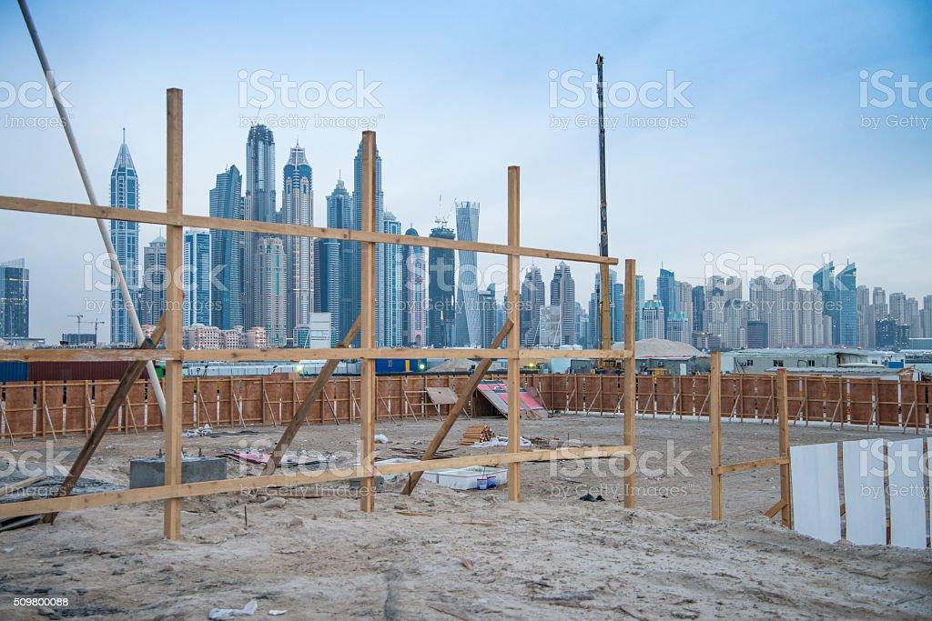 Growth of Dubai stock photo