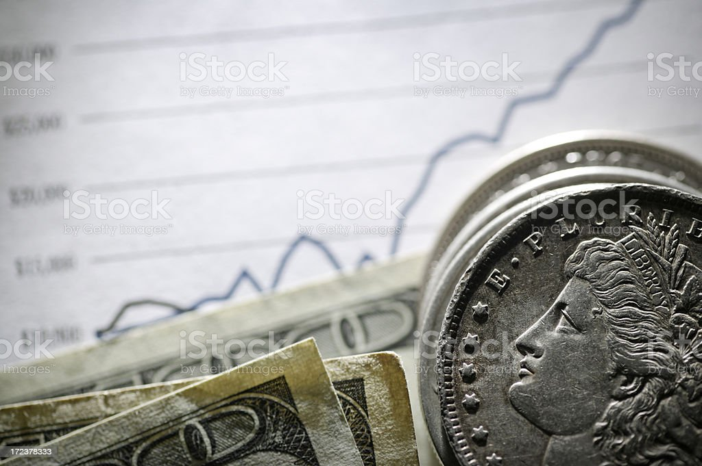 Growth of Money royalty-free stock photo