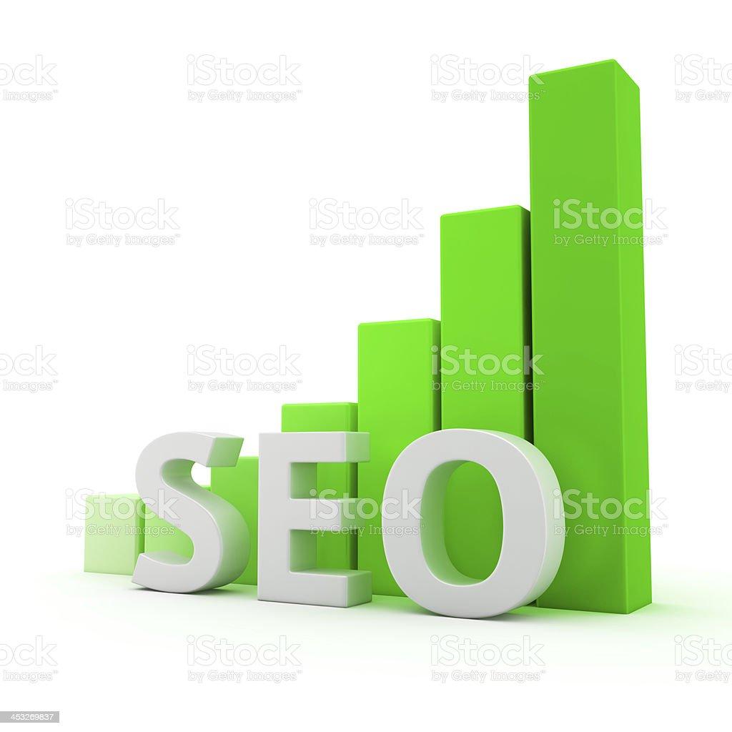 Growth of SEO royalty-free stock photo