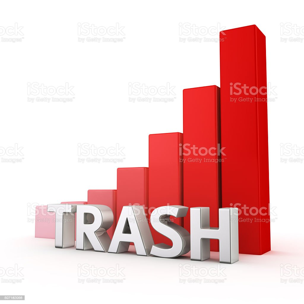 Growth of Trash stock photo