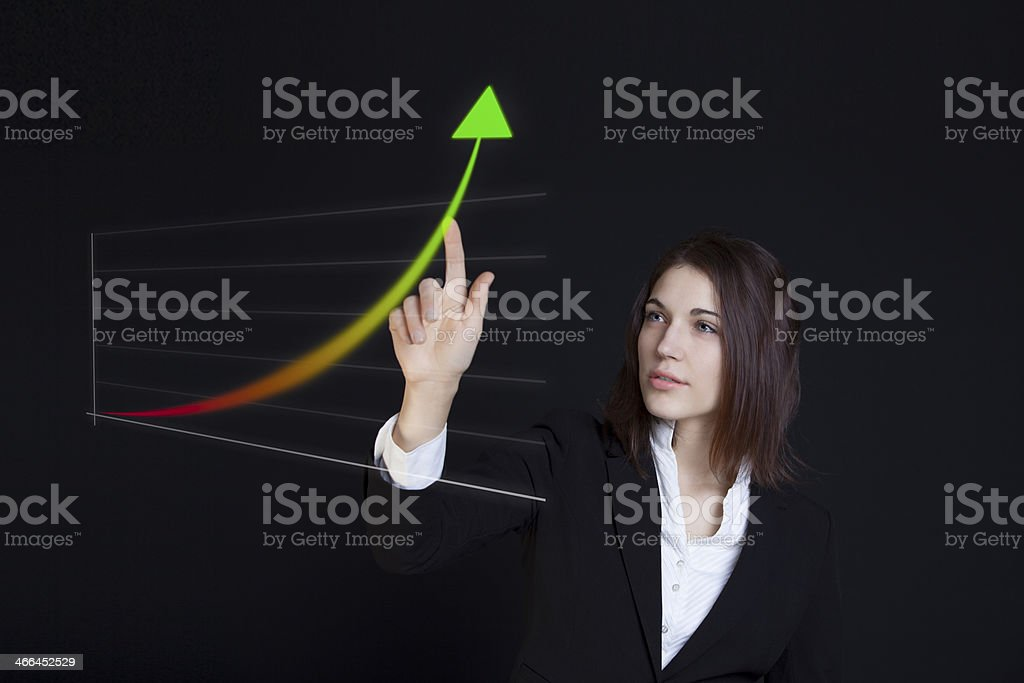 Growth projection royalty-free stock photo