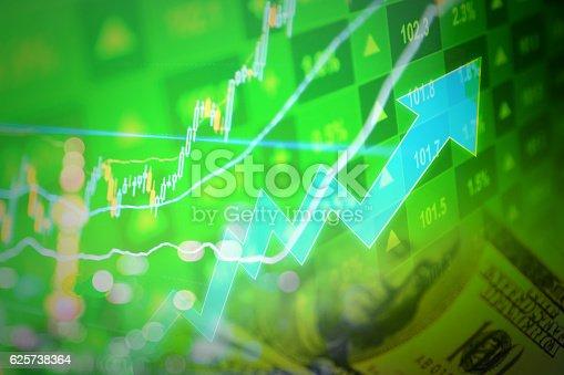 istock Growth stock market 625738364