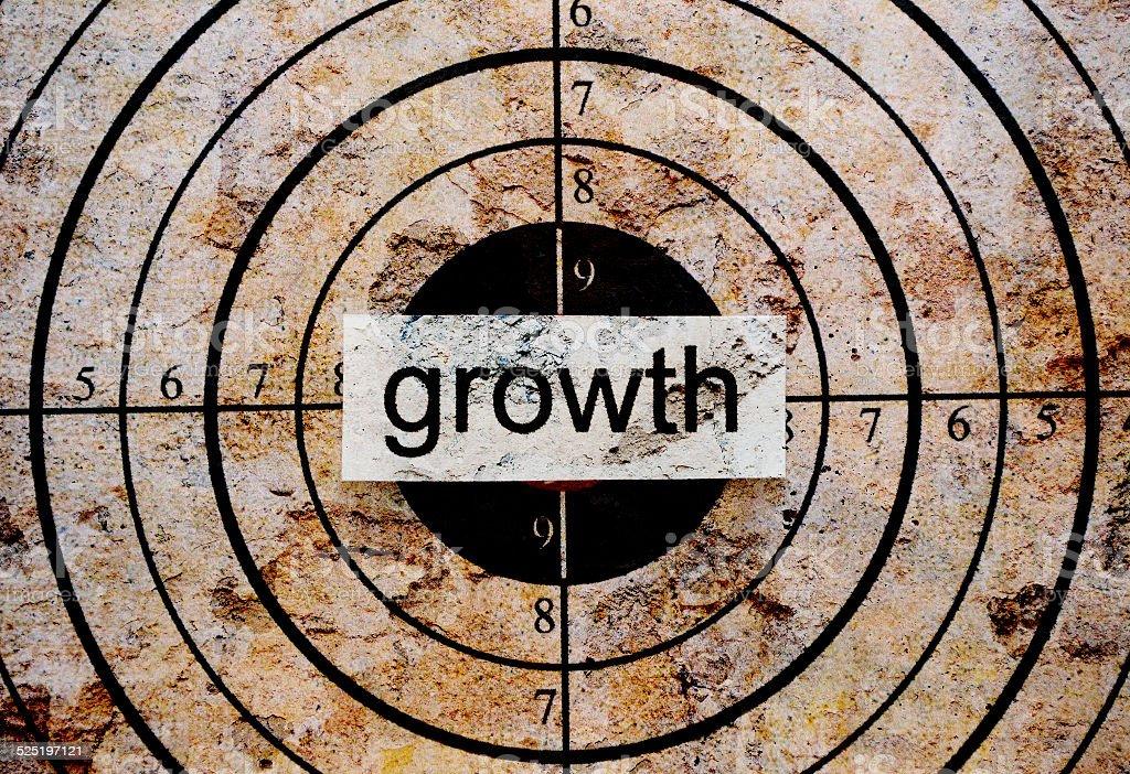 Growth target stock photo