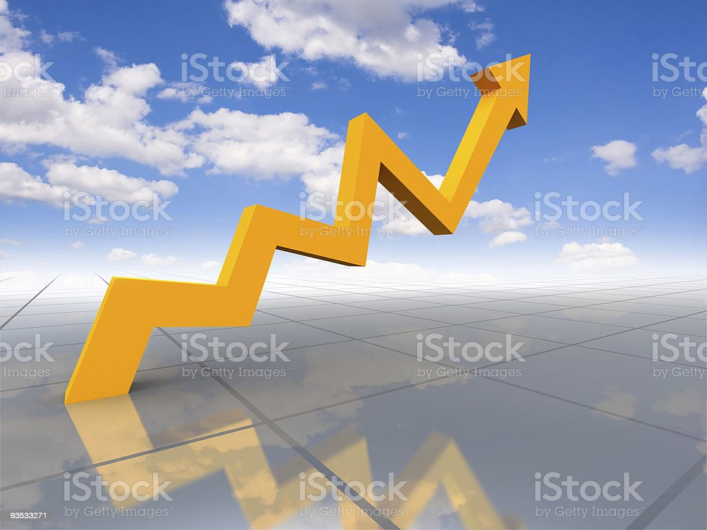 Growth to sky royalty-free stock photo