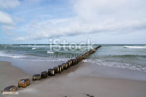 Groyne In Zingst Darss Germany Stock Photo & More Pictures of Baltic Sea