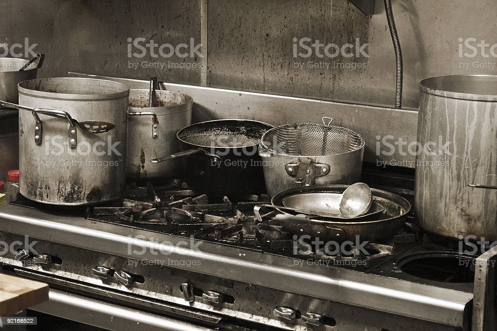 Grubby kitchen stock photo