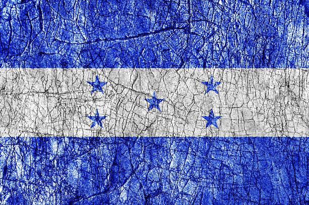 grudge stone painted honduras flag - bandera de honduras fotografías e imágenes de stock