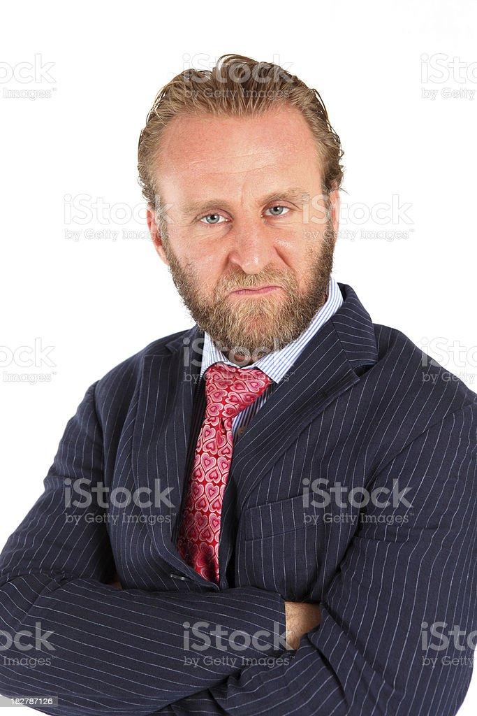 Grumpy business Man stock photo