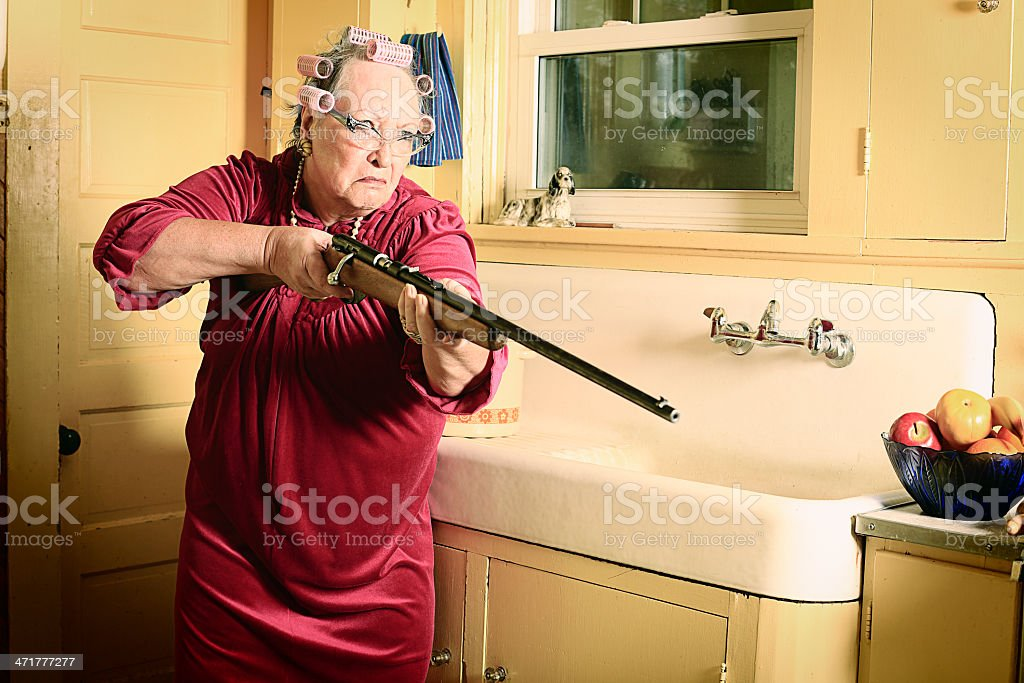 Granny With Gun 34
