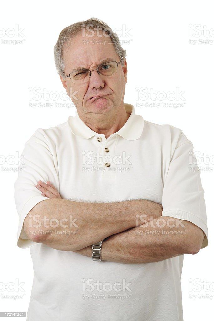 Grumpy stock photo