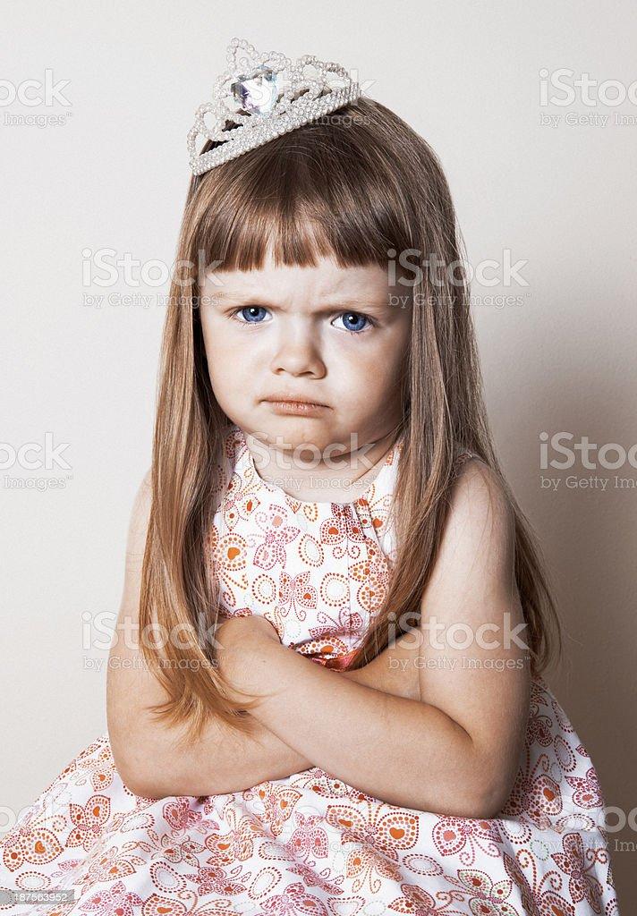 Grumpy Princess royalty-free stock photo