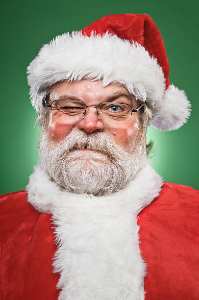 Grumpy Santa Claus stock photo