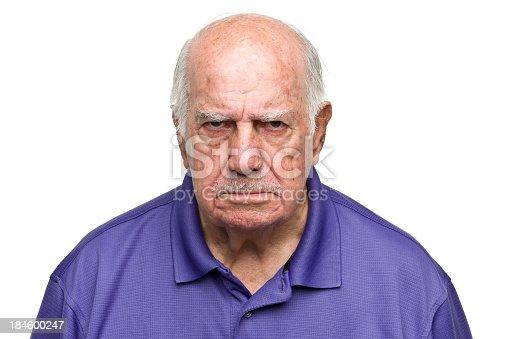 Portrait of a senior man on a white background. http://s3.amazonaws.com/drbimages/m/rl.jpg