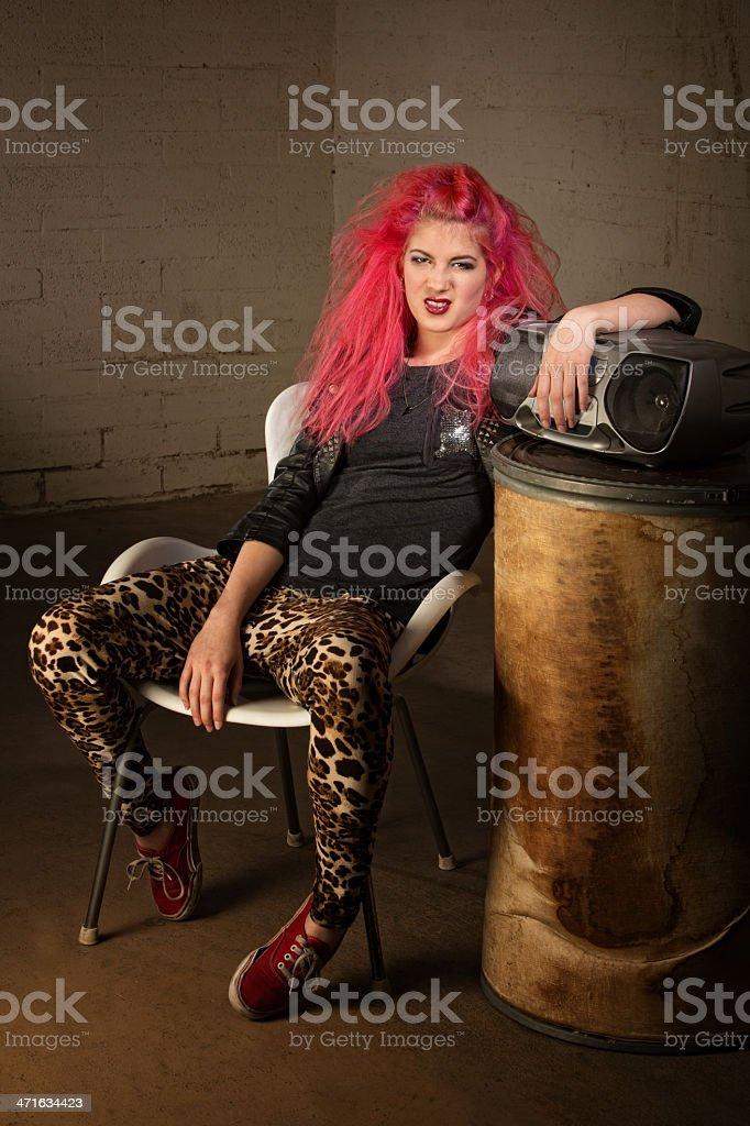 Grumpy Teen Girl stock photo