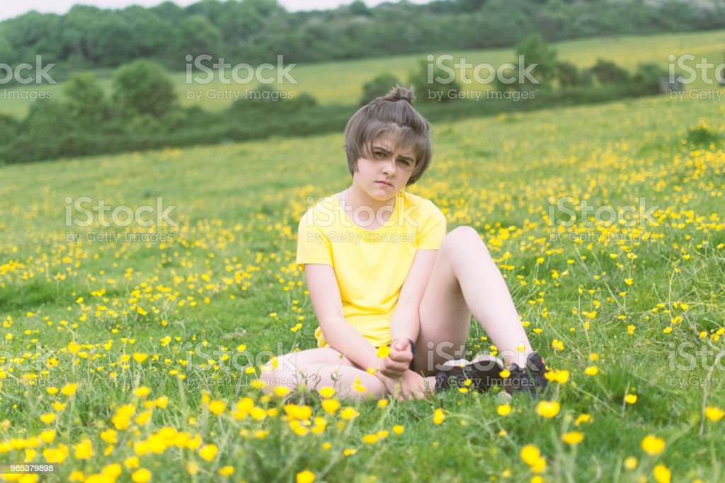 Grumpy teenager royalty-free stock photo