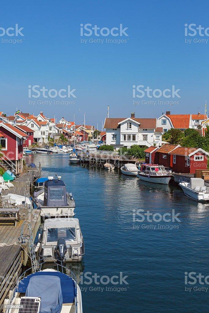 Grundsund a old fishing village stock photo