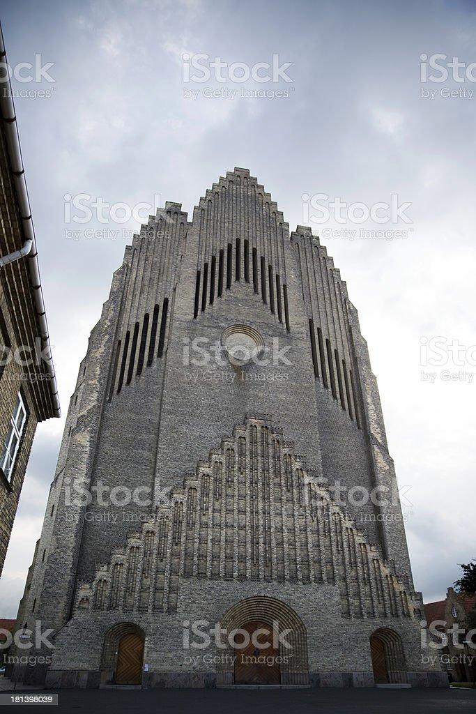 Grundtvig Church, Copenhagen, Denmark royalty-free stock photo