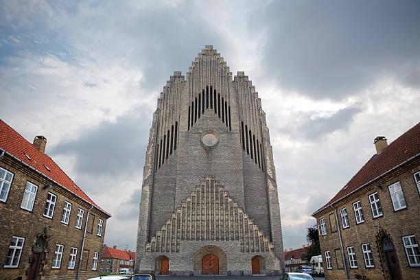 Grundtvig Church, Copenhagen, Denmark stock photo