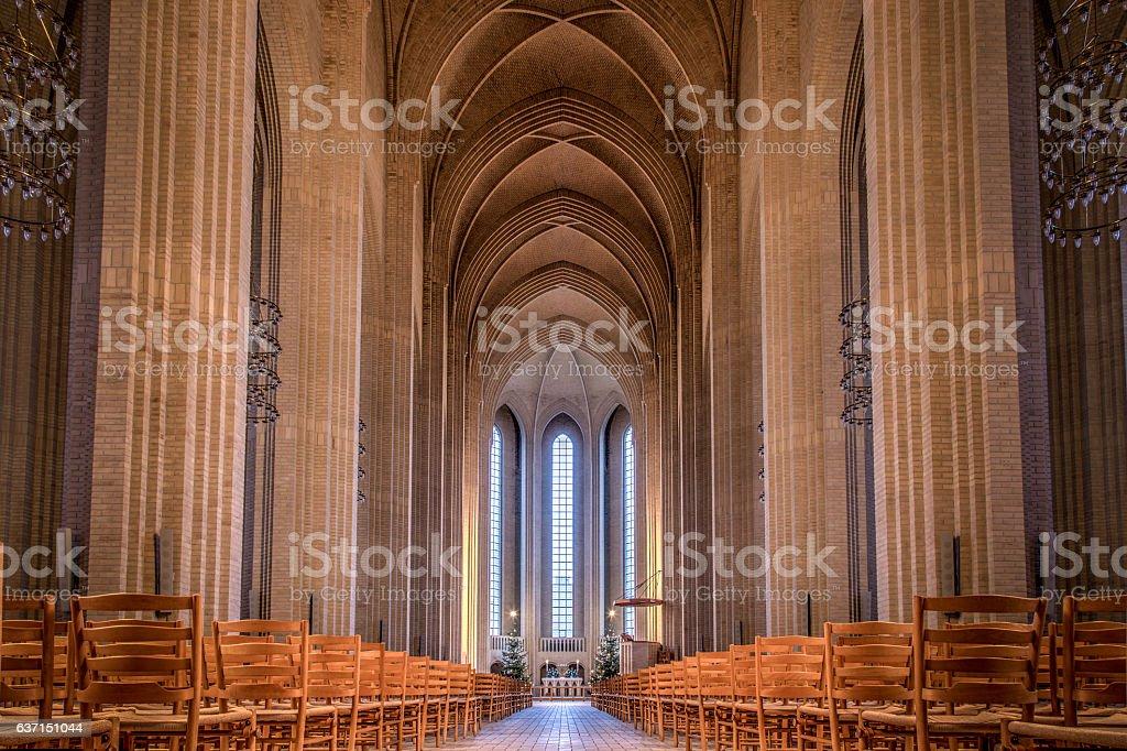 Grundtvigs Church in Copenhagen, Denmark stock photo