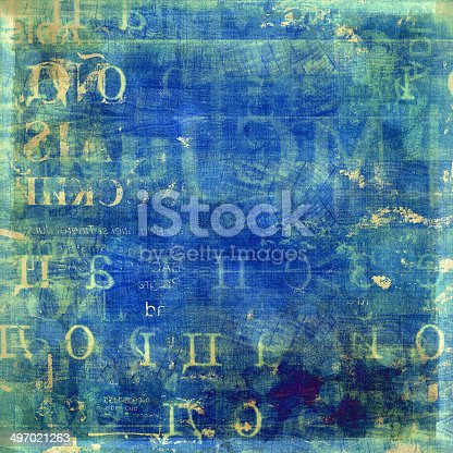 497021263 istock photo Grunge abstract background with old torn posters 497021263