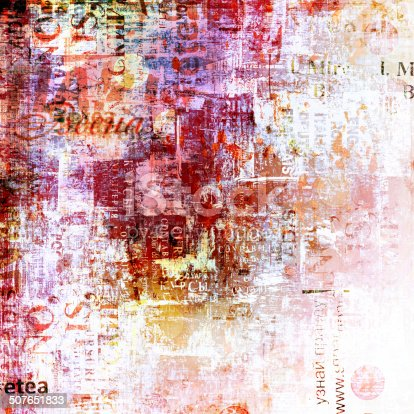 istock Grunge abstract background with old torn posters 507651833
