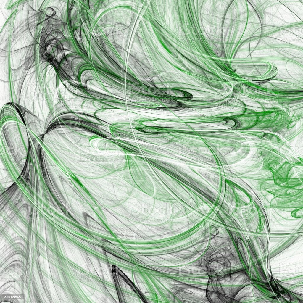 Grunge abstract green background on white backdrop stock photo