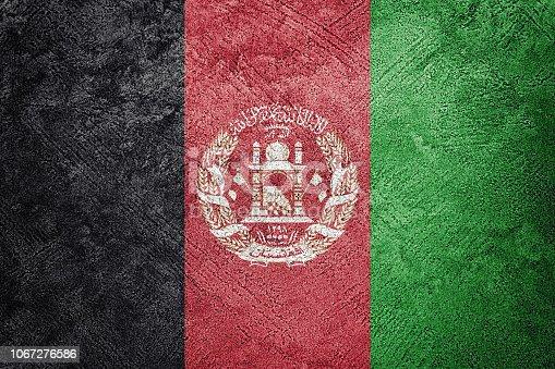 Grunge Afghanistan flag. Afghanistan flag with grunge texture.