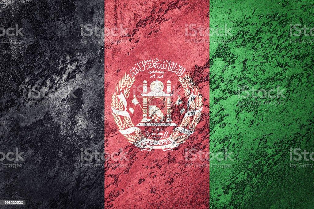 Grunge Afghanistan flag. Afghanistan flag with grunge texture. stock photo