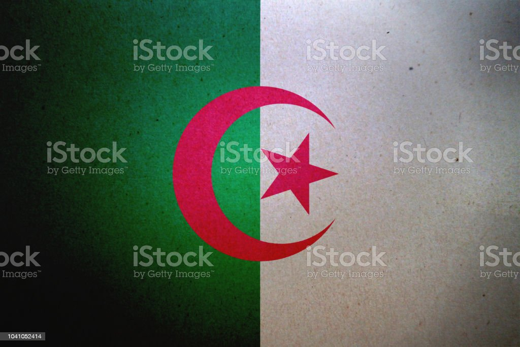 Grunge bandera argelina impreso en un papel - foto de stock