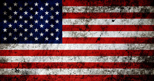 Grunge American flag background Grunge American flag background distressed american flag stock pictures, royalty-free photos & images