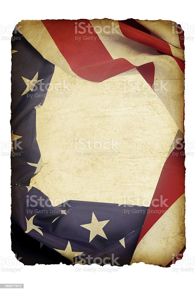 Grunge American Flag Paper royalty-free stock photo