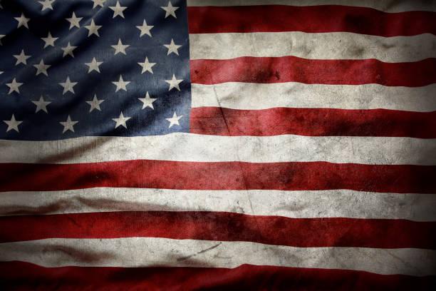 bandeira americana de grunge - exposto ao tempo - fotografias e filmes do acervo