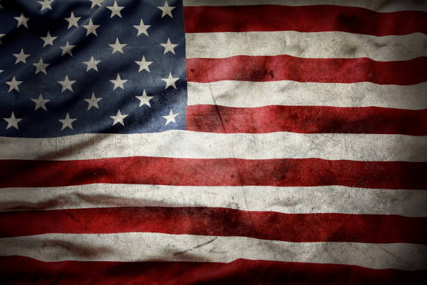 Grunge American flag Closeup of grunge American flag independence day photos stock pictures, royalty-free photos & images