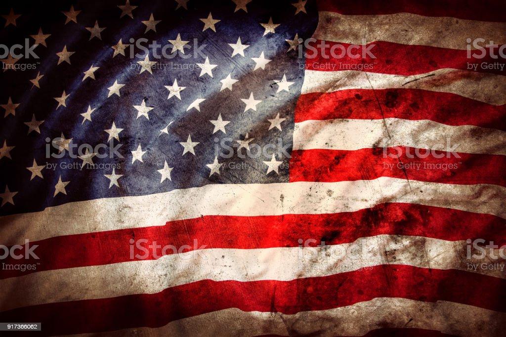 Grunge American flag stock photo