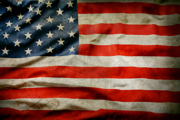 grunge american flag - american flag stock pictures, royalty-free photos & images