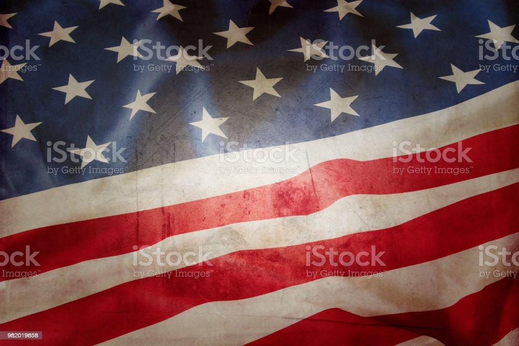 Grunge amerikanischen Flagge – Foto