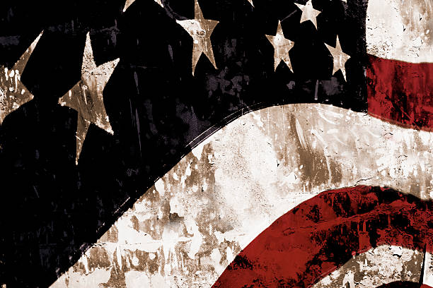 Grunge amerikanische Flagge mit strukturierten overlay. Patriotismus. – Foto