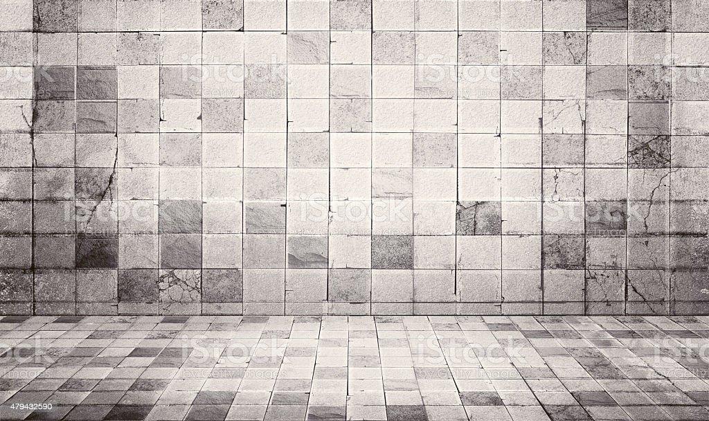 Grunge stile vintage e piastrelle di pavimento e parete di cemento