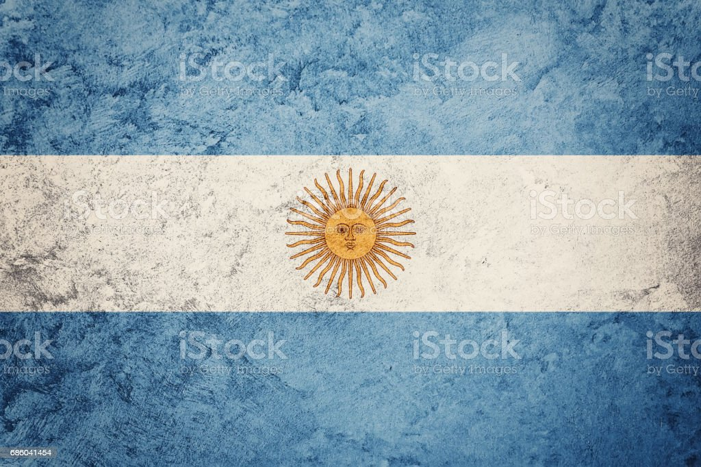 Grunge Argentina flag. Argentina flag with grunge texture. stock photo